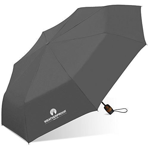 Weatherproof Automatic Super Mini Umbrella-Wp-m850-gray, Gray, One Size