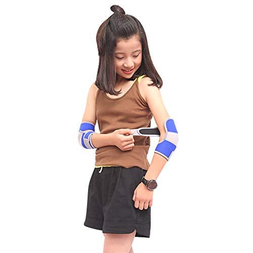 Ellenbogenschoner Kinder Ellenbogenbandage Verstellbarer Ellbogenschützer mit Klettverschluss Atmungsaktiver Armschoner mit Silikonkissen Junge Mädchen Stützbandage für Tanzen Skateboard Radfahren
