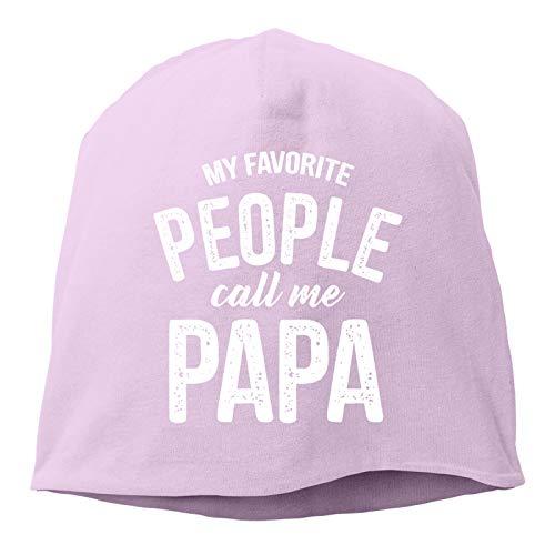 Sng9o My Favorite People Call Me Papa Adult Hip Hop Breakdance Gorras unisex de algodón suave