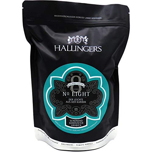 Hallingers Gourmet-Kaffee aus der Karibik, schonend langzeit-geröstet (500g) - No. Eight (Aromabeutel) - zu Passt immer