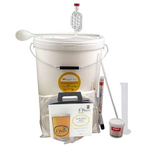 36 Pint (4.5 Gallon) Homebrew Beer Making Starter Kit - St Peters Golden Ale, Home Brew Microbrewery