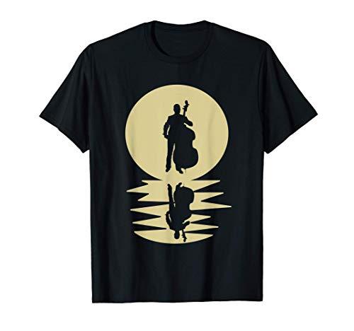 Gran Música De Regalo De Luna De Contrabajo Camiseta