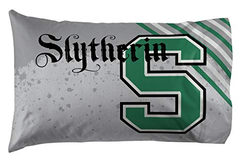 Jay Franco Harry Potter Slytherin 1 Pack Pillowcase - Double-Sided Kids Super Soft Bedding (Official Harry Potter Product)