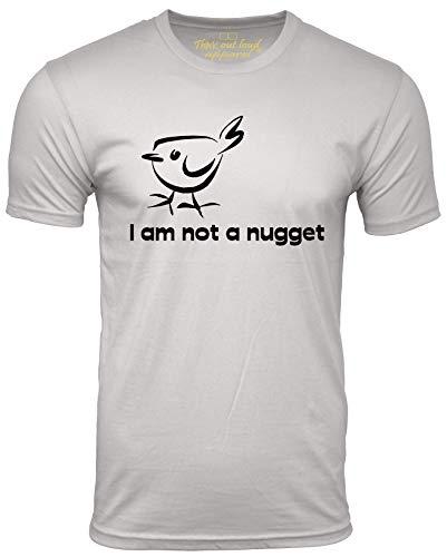 I Am Not A Nugget Funny Vegetarian T-Shirt Vegan Humor Tee Gray Large