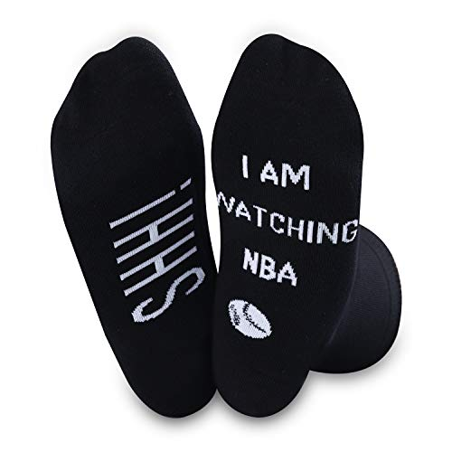 SHH I'm Watching NBA Socken Basketballsocken Basketballliebhaber Spieler Sportsocken für Basketballspiel-Fans Gr. M, NBA Socken