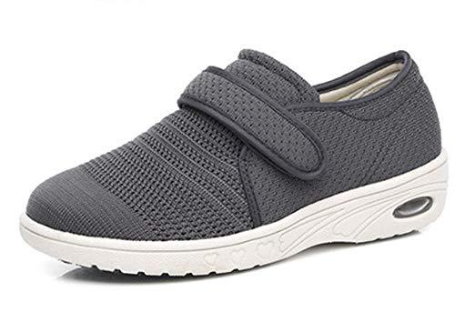 DYWLQ Zapatos para Caminar para Mujeres, Zapatos ortopédicos para Mujeres, Calzado para Fascitis Plantar, Zapatillas de Malla con Aire, Calzado ortopédico para pies hinchados-01_38