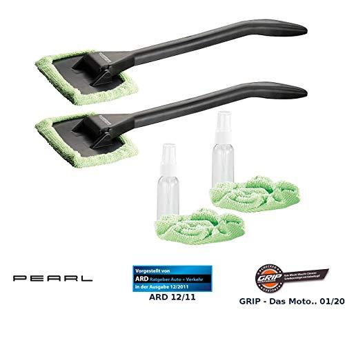 PEARL Autoscheibenputzer: Windschutzscheiben-Wunder mit Gelenk-Kopf & Pump-Sprühflasche, 2er-Set (Auto Scheibenreiniger innen)