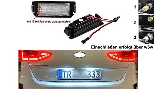 2x TOP LED SMD Kennzeichenbeleuchtung Nummernschildbeleuchtung (032104)