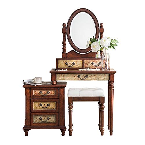 Amazing Deal ChenyanAwesom Dressing Tables Bedroom Dressing Table American Distressed Painted Dressi...
