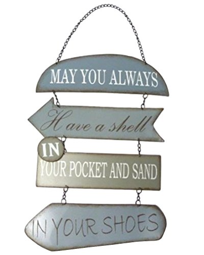 Beachcombers May You Always Have a Shell in Your Pocket and Sand in Your Shoes, Metal Section Sign 22.5 inches Long 12.5 inches