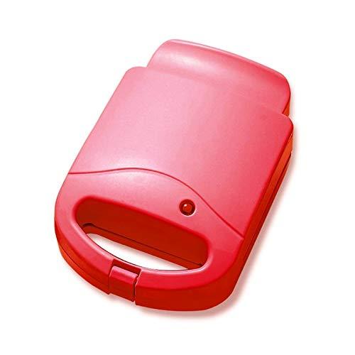 Waffeleisen Belgische Waffel,Sandwichmaker Toastie , Tragbare Elektrische Doppelwaffeln Sandwich Maker , Antihaft-Multifunktions-Toastbrot-Frühstücksmaschine , Rot