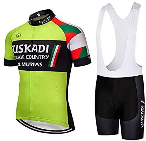 SHWBJ Traje de Ciclismo para Hombre de Equipos. Culotte y Maillot. con...