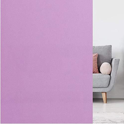 rabbitgoo Vinilo para Ventana Privacidad Pegatina Colores Translúcida Adhesiva Decorativa del Vidrio con Electricida Estática para Baño Despacho Cocina Control de Calor y Anti UV Púrpura 44.5 x 200 cm
