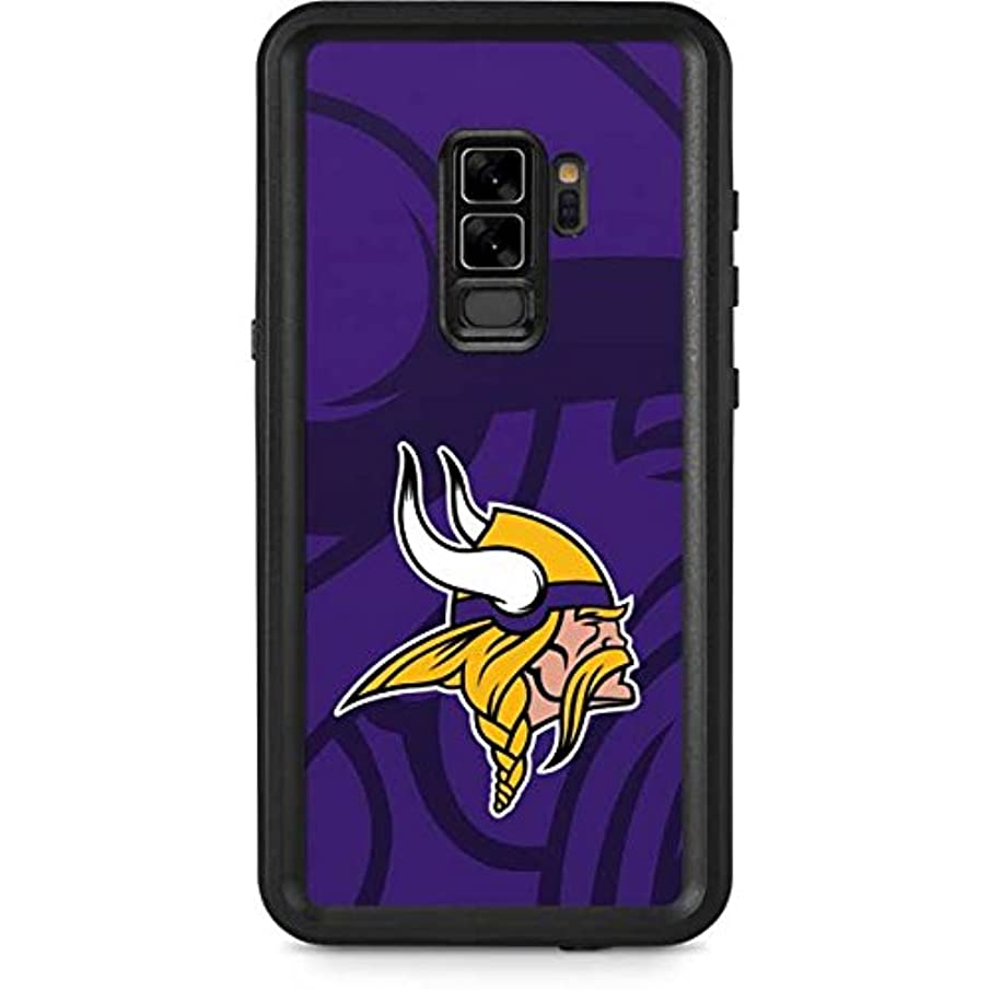 Skinit NFL Minnesota Vikings Galaxy S9 Plus Waterproof Case - Minnesota Vikings Double Vision Design - Sweat-Proof, Snow-Proof, Dirt-Proof, Dust-Proof Phone Cover
