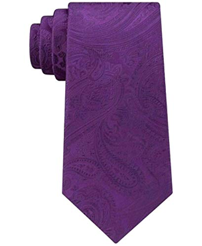 Michael Kors Men's Paisley Skinny Neck Tie (Purple)