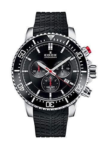 Edox Herren-Armbanduhr Chronorally S Titanium Chronograph Datum Analog Quarz 10227 TINCA NIN
