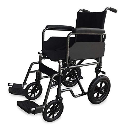 Mobiclinic, Modell S230 Sevilla, Premium Faltrollstuhl, Transportrollstuh, Standardrollstuhl, für ältere und behinderte Menschen, Fußstützen, abnehmbare Armlehnen, Sitzbreite 43cm