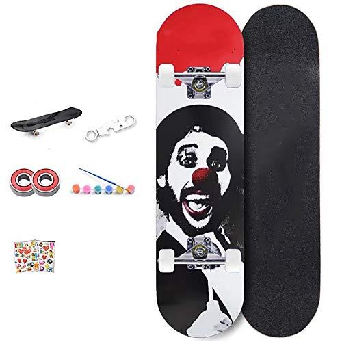 FGKING Cruiser Complete Skateboard Longboard, Personalized Beginner Skateboard, Skateboards Pro 31 inches for Teens Beginners Girls Boys Kids Adults, 7 Layer Maple Wood Skateboard,1