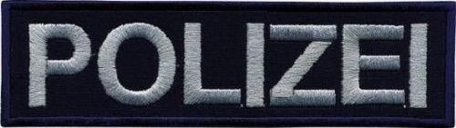 Aufnäher Applikation Patches - Polizei - 00750 Gr. 6cm x 1,5cm