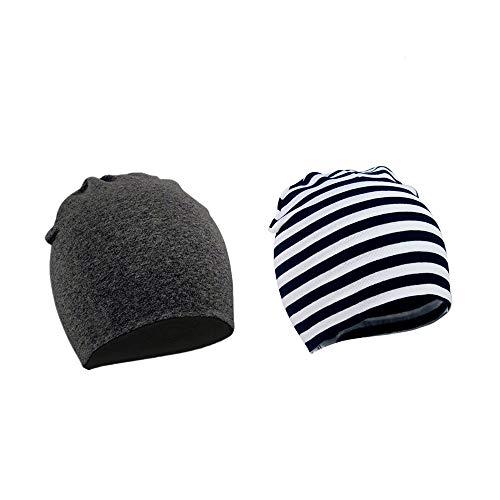WYMAODAN Baby Beanie Hat, 2 uds, Gorra de algodón de otoño e Invierno, Suaves Sombreros de Do...