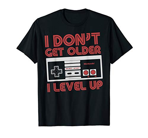 Nintendo I Don't Get Older I Level Up SNES Controller T-Shirt, 7 Colors, Men or Women