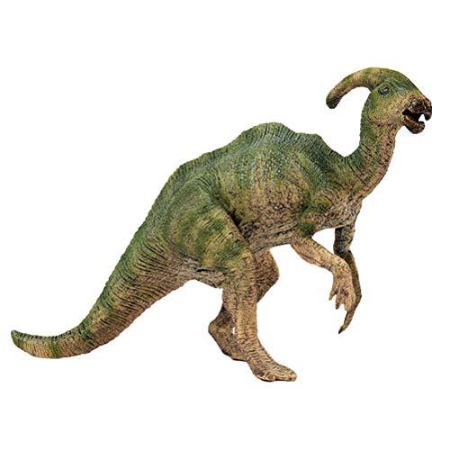 FLORMOON Juego de Dinosaurios - Realista Parasaurolophus Dinosaur- Figuras de Dinosaurio de plástico - Decoración de Pasteles de cumpleaños Juguete Escolar para niños pequeños(Talla Grande)