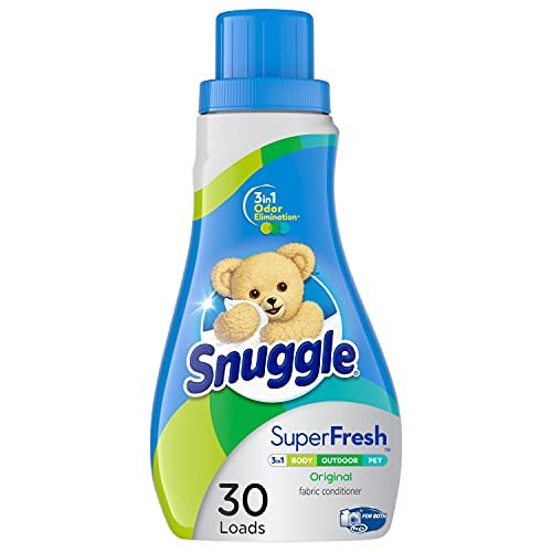 Snuggle Plus Super Fresh Liquid Fabric Softener with Odor Eliminating Technology, 31.7 Fluid Ounces (Packaging May Vary)