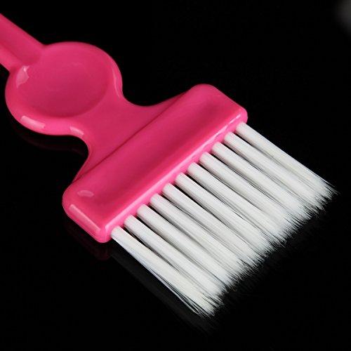 Haarfärbepinsel Friseurpinsel Combo Salon Haarfarbe Farbstoff Tönung Tool Kit Neu Schwarz/Weiß/Pink/Lila/Blau/Grün/Rot/Grau/Himmelblau Zufällige Farben