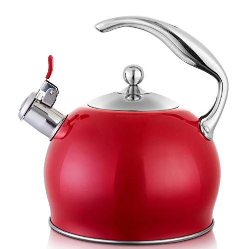Tea Kettle Best 3 Liter induction Modern Stainless Steel Surgical Whistling Teapot -Tea Pot For...