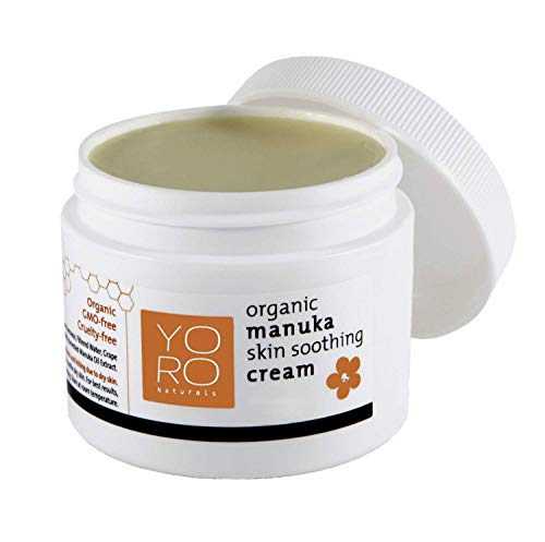 YoRo Naturals, Organic Manuka Skin Soothing Creamy Balm, Relief from Eczema, Psoriasis, Diaper Rash, Sunburns, Cuts & Scrapes (2 OZ)
