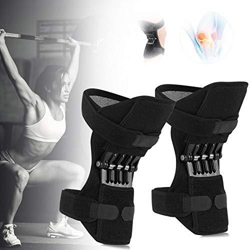 Knee Active Plus Rodillera, Protector de Rodilla, Rodillera Menisco y Ligamentos, Poderoso Rebote de Primavera Knee Booster para Deportes Al Aire Libre, Ejercicio, Escalada