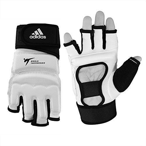 adidas Taekwondo Hand Protector Hand Guard Hand Gear Gloves TKD WTF Approved S to XL (2.M(7.1inch/18cm))