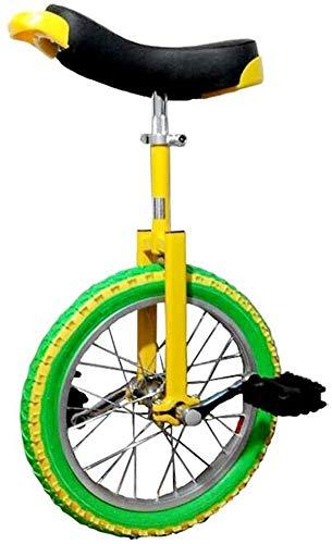 Fahrräder Einrad Einrad 16/18/20 Zoll Einzelrad Kinder Erwachsene Einstellbar Höhenbilanz Fahrrad, Das Beste Geburtstags-Einrad (Size : 18 inch)