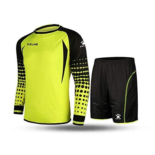 Kelme Fußballtrikot-Set für Torwart, langärmelig Medium gelb/schwarz