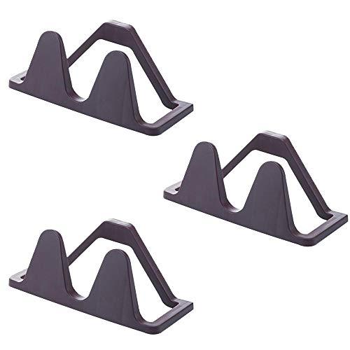 Dfghbn Schuhschrank Organizer Wandbehang Lagerregal Paste Bad Schuhe Hausschuhe Selbstklebende Regal 3er-Pack Ideal für Badezimmer Schuhablage (Farbe : Coffee, Size : 24 * 10cm)