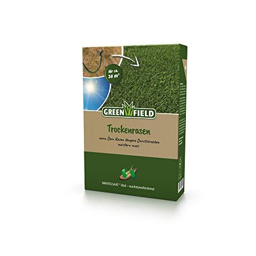 Greenfield Trockenrasen Rasen Samen Mantelsaat® Vital 1kg für ca. 30m²