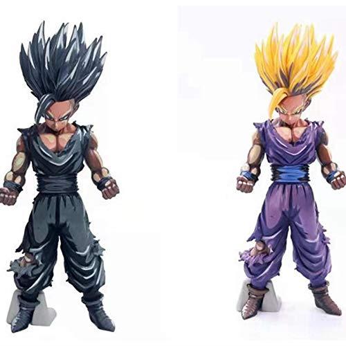 zzdgfc 2 Piezas Dragon Ball Z Son Gohan Manga Color PVC Figuras De Acción De Juguete 23Cm Dragon Ball Super Gohan Super Saiyan Figuritas Juguetes