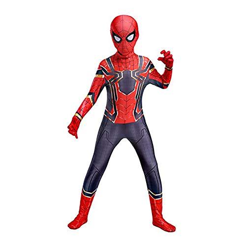 GUOHANG Kinder Superheld Spiderman Cosplay Kostüm Unisex Halloween Spiderman Kostüme für Kinder Kinder und Erwachsene Spider Man Jumpsuit 3D Gedruckt Lycra Spandex Bodysuit,C,130cm~140cm