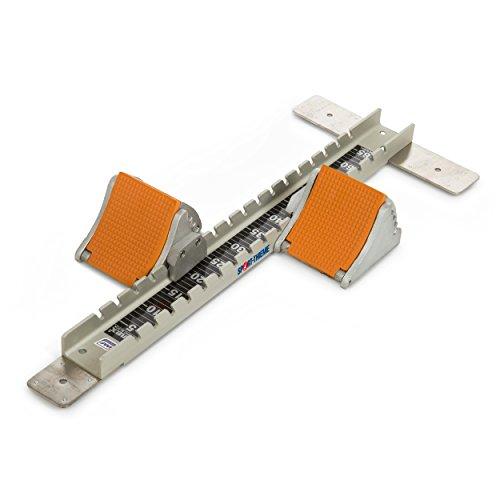 Sport-Thieme Wettkampf-Startblock Super   Für Wettkämpfe geeignet   Aluminium   9 kg   inkl. Montagewerkzeug   optimale Startposition   4-Fach verstellbare Neigung   mit Erdankern