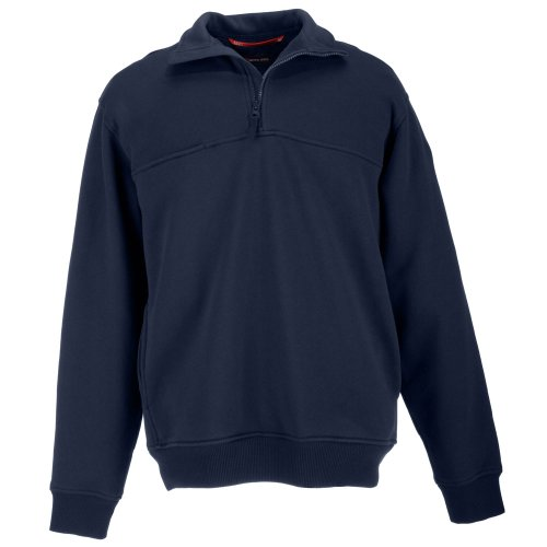 5.11 Tactical Quarter Job Zip Shirt - Fire Navy - Medium