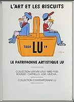 ポスター レイモン サビニャック Liart et les Biscuits 1980 額装品 アルミ製ハイグレードフレーム(シルバー)