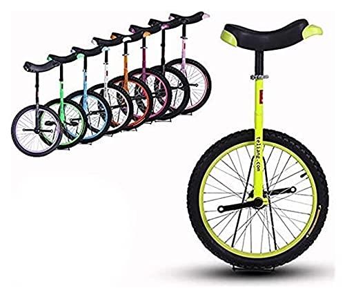 Unicycle Unisex Bike 16/18/20 Pulgadas Rueda Frame Shater Marco de Acero y llanta de aleación, con Stand, niños/para Adultos, Mejor Regalo de cumpleaños, 8 Colores Opcional