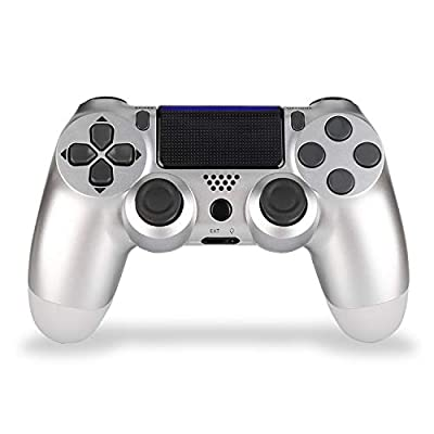 2 Pack Wireless Controller for PS4 Remote for Sony Playstation 4 with 3 Pack Charging Cable, Wave Blue + Jet Black