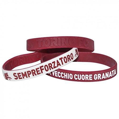 Giemme Articoli promozionali - Coppia Braccialetti Stemma Torino Toro Prodotto Ufficiale Granata Idea Regalo