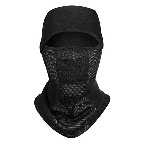 Yinuoday Sturmhaube, Gesichtsbedeckung, Winter, Radfahren, winddicht, mit Fleece gefüttert, Thermo-Kopfbedeckung