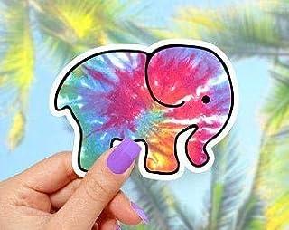 Elephant Tie Dye Sticker
