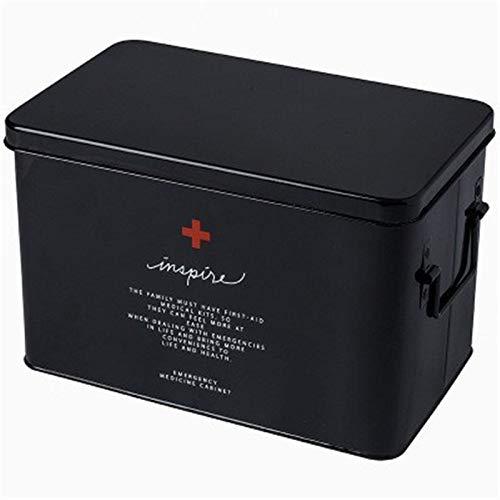 Cajas de almacenaje Tamaño caja de la medicina del hogar caja de la medicina Drogas Caja de almacenamiento Familia tamaño infantil kit médico de emergencia portátil for pacientes ambulatorios