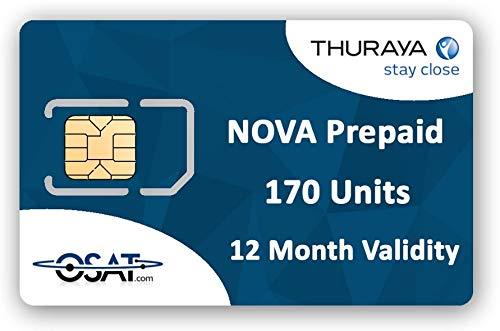 OSAT Thuraya Teléfono Satelital Nova SIM con 170 Unidades (200 Minutos)