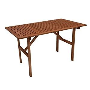 DEGAMO Gartentisch Brasilia 70x120cm, Eukaylptus geölt, FSC®-Zertifiziert