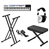 Casio PX-5S Privia 88-Key Pro Digital Stage Piano - Bundle With On-Stage KPK6520 Keyboard Stand/Bench Pack with Sustain Pedal, Behringer HPS3000 High-Performance Studio Headphones, Microfiber Cloth